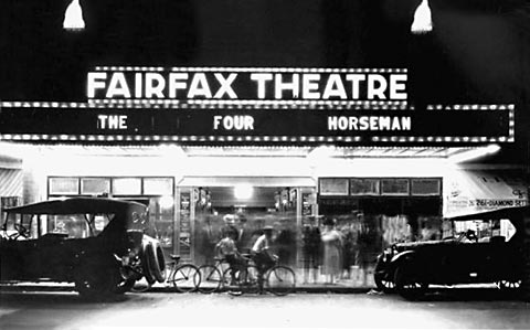 Fairfax Theater in 1921