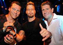Tiesto, Ricky Martin and Michael Capponi at Mansion