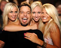 Ricky Martin at Mansion