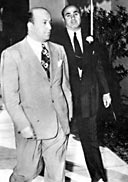 Al Capone (right) with Chicago attorney Abraham Teitelbaum