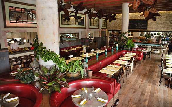 Dine indoors or alfresco at Sugarcane in Midtown Miami