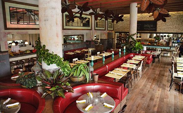 Dine indoors or alfresco at Sugarcane in Midtown Miami