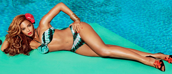 Beyoncé as Mrs. Carter in H&M Bikini
