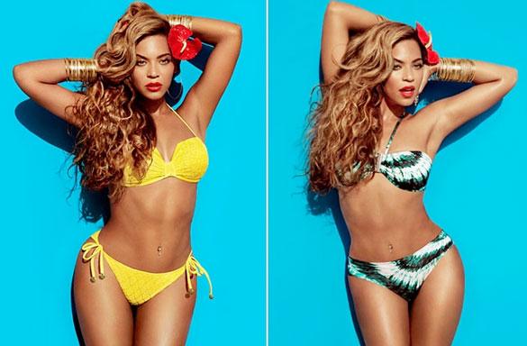 Beyoncé in H&M Bikinis