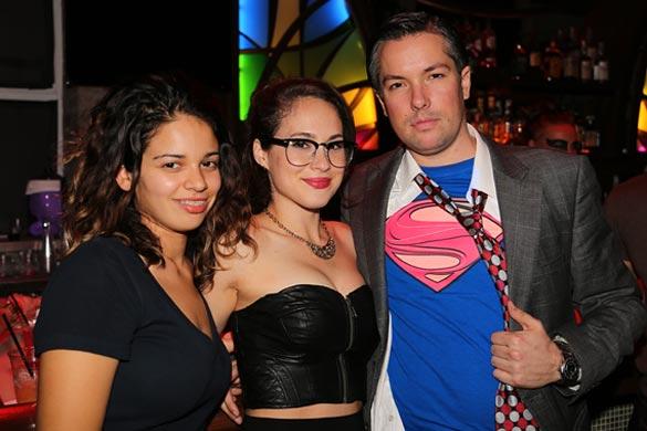 Party regular Scott Brain and friends