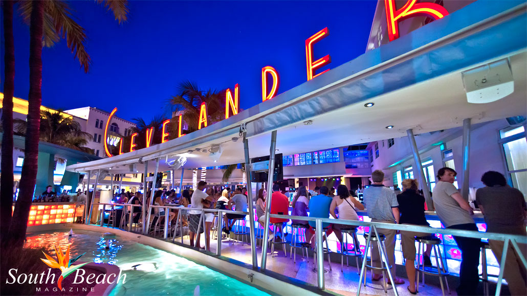 The Clevelander Hotels Outdoor Bar On Ocean Drive