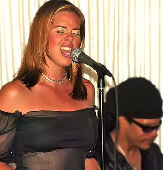 Christina Sichta accompanied by Leroy S. Romans performing at the National Hotel