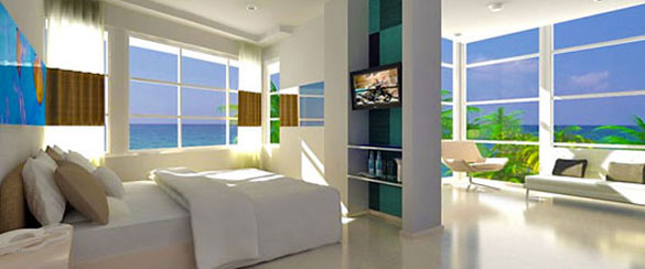 Rockstar Suite at the Clevelander hotel in South Beach