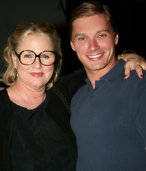 "Edison Farrow and Sharon Gless of ""Queer as Folk"" at theColony Theater, Miami Beach"