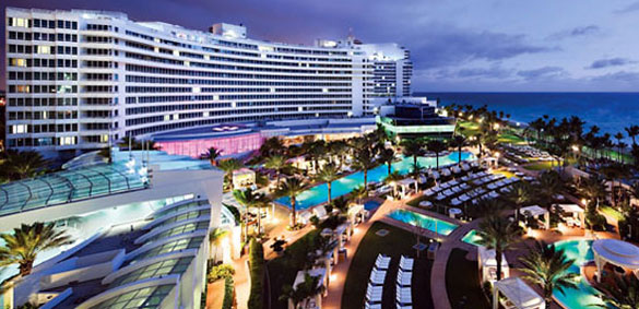 Fontainebleau Hotel in Miami Beach, designed by Morris Lapidus