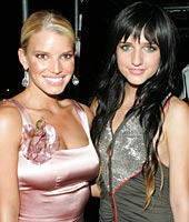 Jessica & Ashlee Simpson at VMA's Pre-Party hosted by Pharrell Williams & Chad Hugo