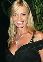 Jaime Pressly arriving at P. Diddy's post VMA party on Star Island