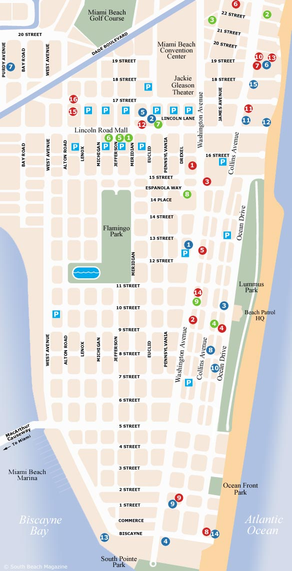 south beach map south beach magazine