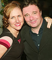 Molly Shannon and Nathan Lane at the Delano hotel