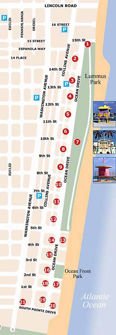 ocean drive map south beach magazine