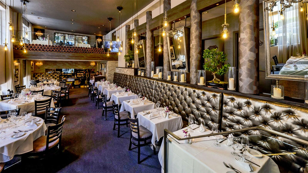 Osteria del Teatro offers two levels of elegant dining