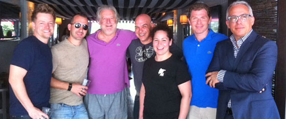 South Beach Wine and Food Festival Chefs Richard Blais, Mark Forgione, Jonathan Waxman, Michael Symon, Stephanie Izard, Bobby Flay, and Geoffrey Zakarian