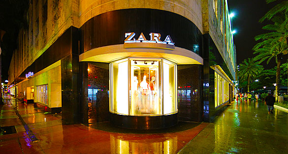 ZARA on Lincoln Road & Collins Avenue in South Beach