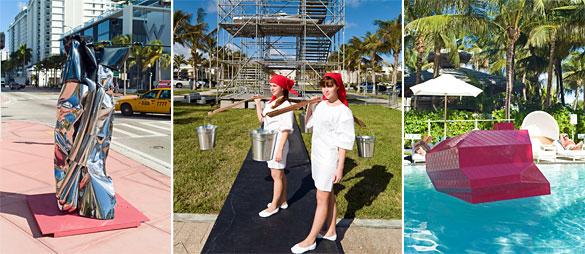 Art Public installations at various locations around Miami Beach