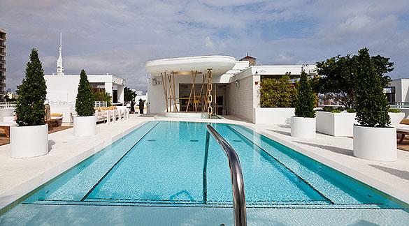 Dream Hotel's High Bar pool area