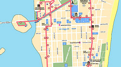 Click To Enlarge South Beach Local Shuttle Bus Map