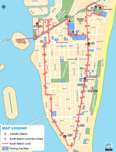 South Beach Local / Shuttle Bus Map