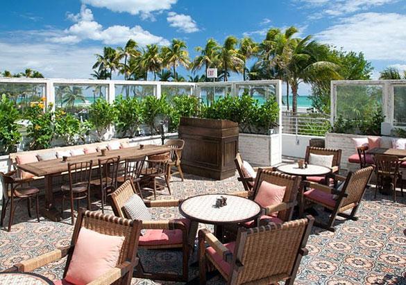 Garden Area Of Club Bar