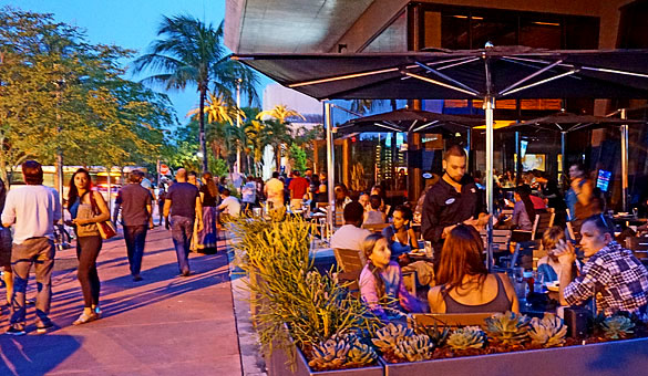 Yard House Is One Block North Of Lincoln Road