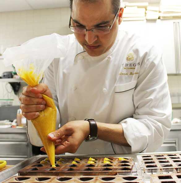 Working in a busy hotel kitchen keeps Chef Antonio Bachour focused and challenged