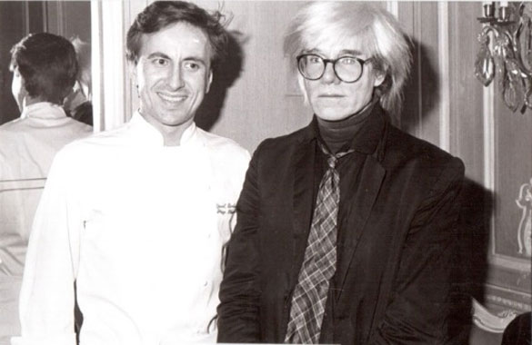 Daniel Boulud and Andy Warhol