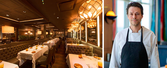 Chef Paolo Dorigato's warm and romantic dining room at Dolce at the Gale Hotel offers guests a cozy oasis in the heart of South Beach