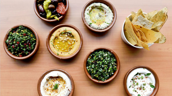 A flavorful variety of dips served at Boulud Sud, Miami (photo Liz Barclay)