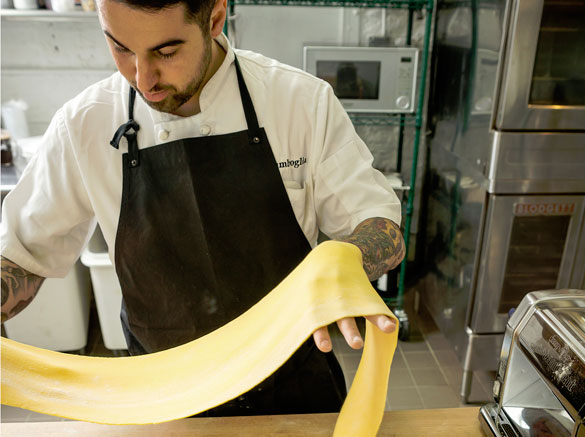 Bar Primi Chef Sal Lamboglia handcrafts pasta for the Miami Spice menu at The Dutch