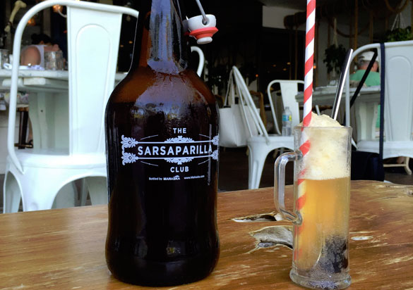 Cool off with the sweet Sarsaparilla Club Root Beer Float