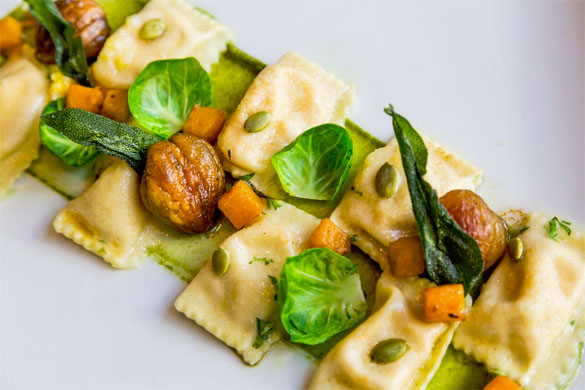 Pumpkin Agnolotti at db Bistro Moderne