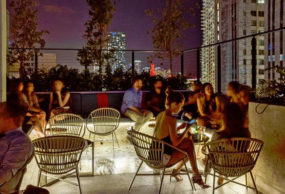 Enjoy panoramic views of Miami's skyline at Pawnbroker Lounge