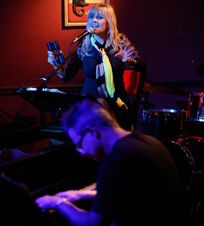 Luz Marina Salazar and Michael Orta at Le Chat Noir