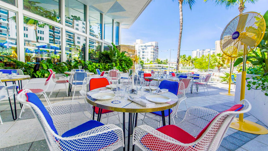 Breakfast is served seven days a week at The Continental Miami Beach
