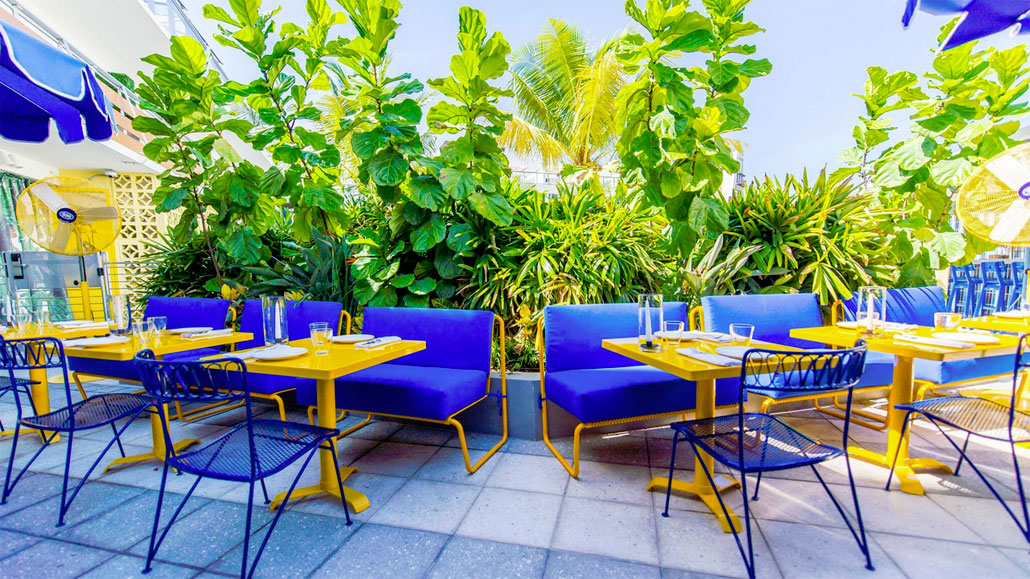 Time for Happy Hour alfresco at The Continental Miami Beach