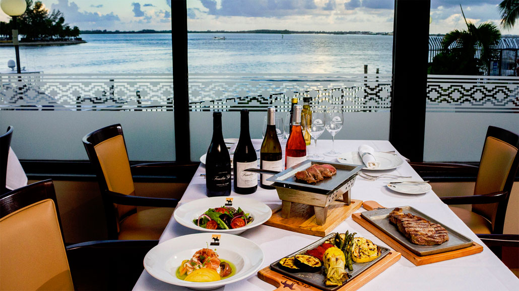 Enjoy gorgeous waterfront views at El Churrasco