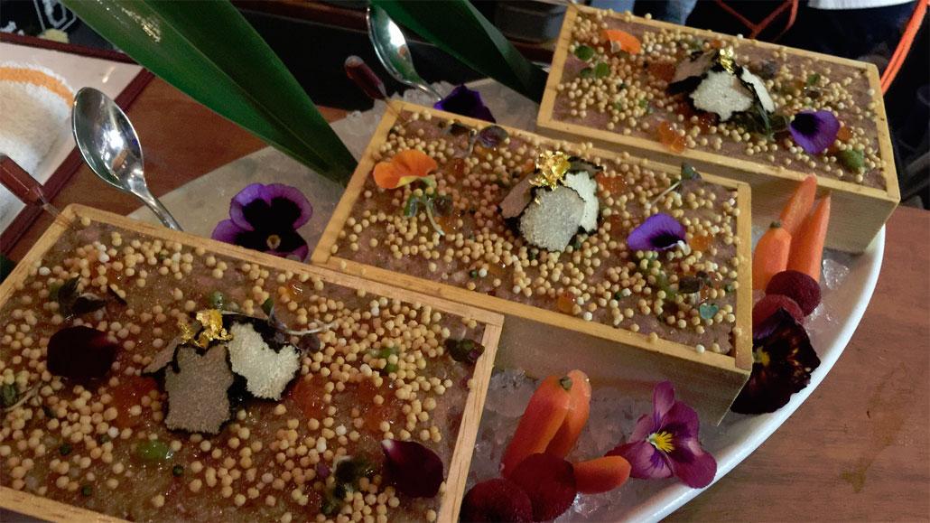 """Chef Bee offers this popular """"local's favorite dish,"""" O'Toro Tartare at NaiYaRa"""