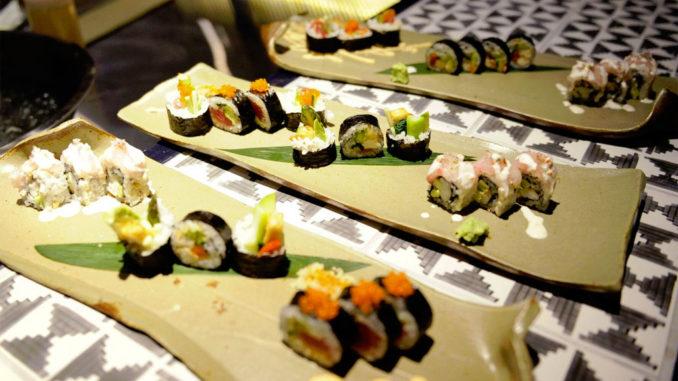 DÔA menu includes Japanese makis & Peruvian tiraditos