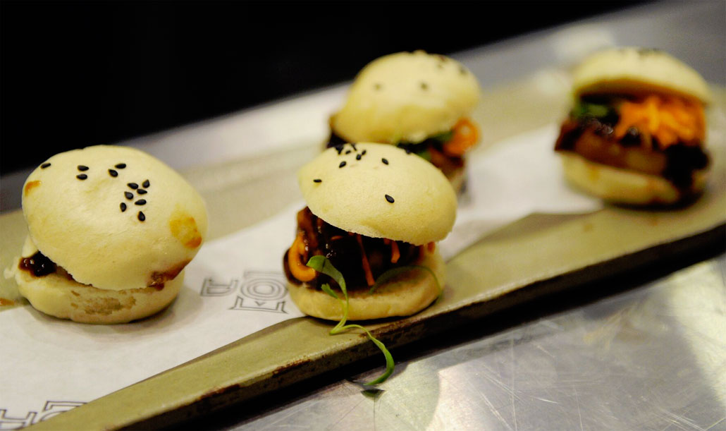 DÔA steamed buns pair with the new cocktail menu.  (photo: World Red Eye)