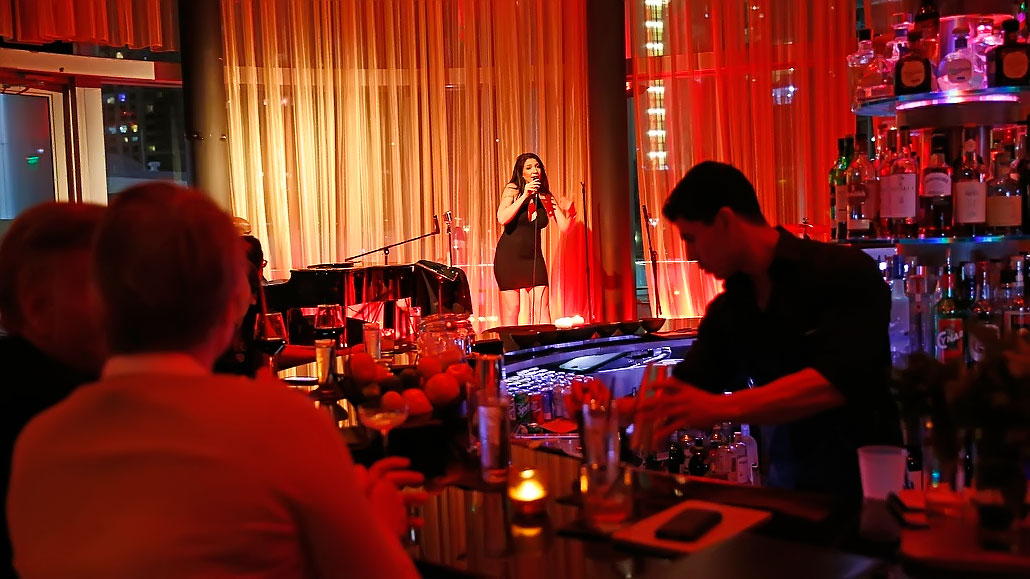 Tyra Juliette on stage at LILT Lounge