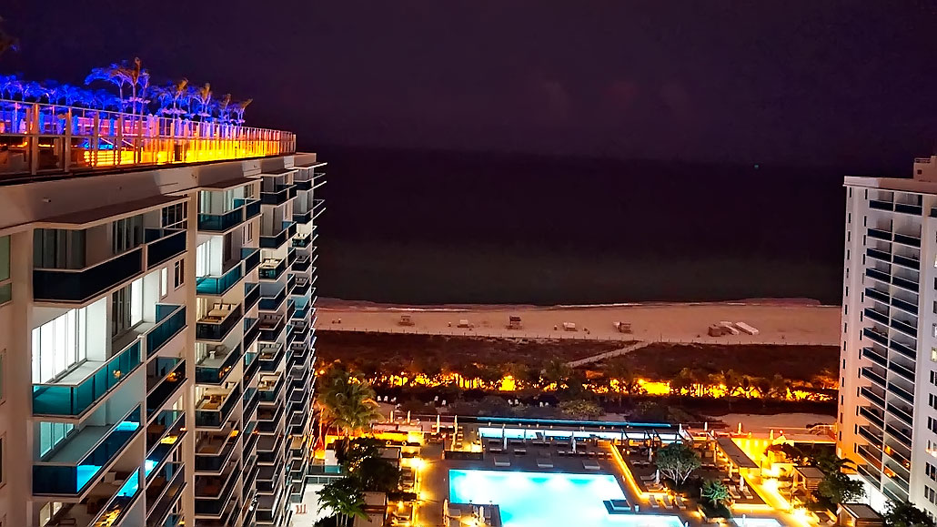 View from Watr at the 1 Hotel South Beach