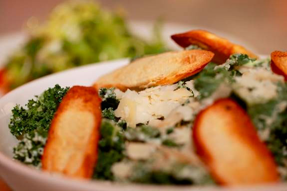 Kale Caesar Salad – 94 calories Restaurant: Brasserie Azur