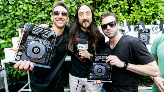 Steve Aoki attends The Music Lounge by iHeartMedia + BMF Media presented by Heineken and Boohoo