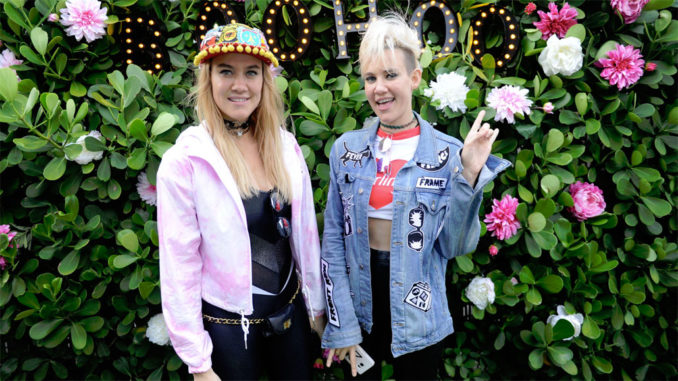 Nervo hangs out at the Boohoo bungalow at The Music Lounge by iHeartMedia x BMF Media