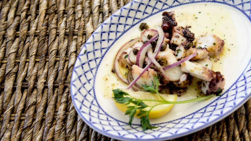 Grilled Octopus at Kiki on the River (Photo: Chat Chow)