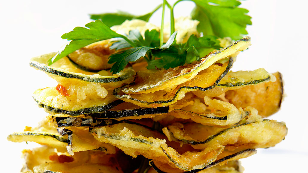 Crisp Fried Zucchihi at Estiatorio Milos